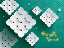 Gráfico de papel del ketupat (bola de masa hervida del arroz) Foto de archivo libre de regalías