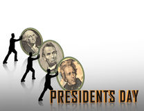Gráfico de presidentes Day Imágenes de archivo libres de regalías