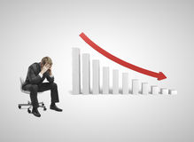 Gráfico de queda Foto de Stock Royalty Free