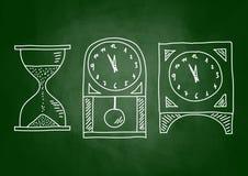 Gráfico de relojes Imágenes de archivo libres de regalías