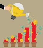 Gráfico de riego del hombre de negocios stock de ilustración