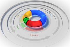 gráfico de sectores 3D Imágenes de archivo libres de regalías