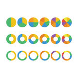 Gráfico de sectores circulares Foto de Stock