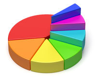 Gráfico de sectores colorido creativo abstracto en la forma de escaleras stock de ilustración