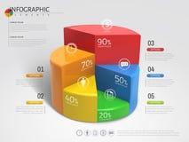 gráfico de sectores 3D infographic Foto de archivo