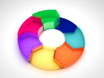 gráfico de sectores de cristal 3D Libre Illustration