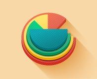 Gráfico de sectores del negocio Fotos de archivo libres de regalías