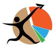 Gráfico de sectores del negocio stock de ilustración