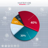 Gráfico de sectores del vector - estadísticas de negocio Fotos de archivo