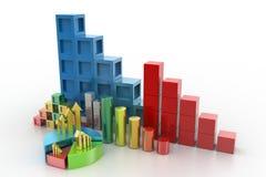 Gráfico de sectores y gráfico de barra Imagen de archivo