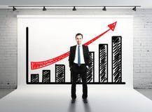Gráfico de Succes imagem de stock
