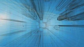 Gráfico de Technival del edificio corporativo ilustración del vector