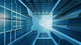 Gráfico de Technival del edificio corporativo stock de ilustración