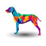 Gráfico de vector animal del animal doméstico del perrito del perro ilustración del vector