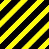 Gráfico de vector inconsútil de líneas diagonales negras en un fondo amarillo Esto significa peligro o un peligro libre illustration