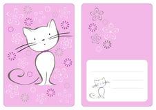 Gráfico de vetor ajustado com gato Imagens de Stock Royalty Free