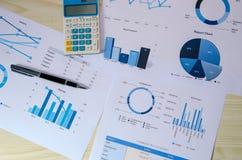Gráfico del análisis de negocio foto de archivo libre de regalías