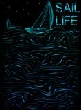Gráfico del cartel de la vida de la vela ilustración del vector