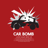 Gráfico del coche bomba Imagen de archivo