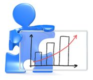 Gráfico del crecimiento. Imagen de archivo libre de regalías