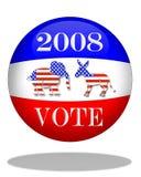 Gráfico del día de elección 2008 Imagen de archivo