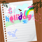 Gráfico del día de fiesta con el papel Imagen de archivo libre de regalías
