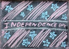 Gráfico del Día de la Independencia Imagen de archivo libre de regalías