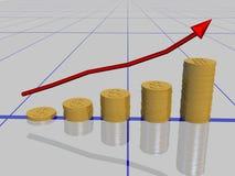 Gráfico del dólar Fotografía de archivo libre de regalías