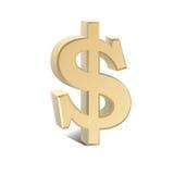 Gráfico del dólar Fotografía de archivo