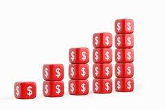Gráfico del dólar del crecimiento Foto de archivo libre de regalías