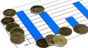 Gráfico del dinero fotografía de archivo