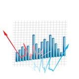 Gráfico del dinero en circulación Stock de ilustración