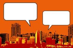 Gráfico del estilo del grunge de Miami la Florida en naranja Fotos de archivo libres de regalías