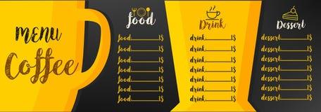Gráfico del fondo del café del menú libre illustration