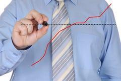 Gráfico del gráfico de la mano Imagen de archivo libre de regalías