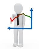Gráfico del hombre de negocios libre illustration