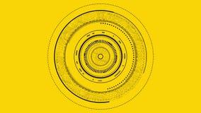 Gráfico del interfaz del foco de la lente ilustración del vector