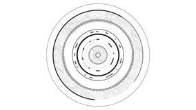Gráfico del interfaz del foco de la lente libre illustration