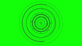 Gráfico del interfaz del foco de la lente stock de ilustración