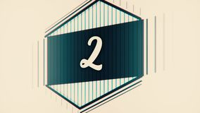 Gráfico 10 a 0 del líder de la cuenta descendiente Cuenta del número a partir de la 1 a 10 Pare la animación del movimiento con e ilustración del vector