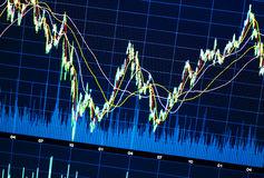 Gráfico del mercado de acción Fotos de archivo libres de regalías