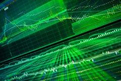 Gráfico del mercado de acción en la pantalla Imagenes de archivo
