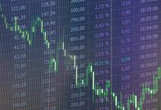 Gráfico del mercado de acción y carta comerciales de la palmatoria conveniente para el concepto de la inversión financiera Fondo  foto de archivo libre de regalías