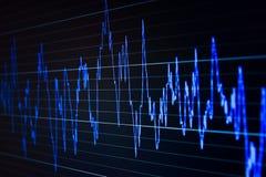 Gráfico del mercado en la pantalla de ordenador Ilustración del Vector