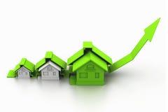 Gráfico del mercado inmobiliario Imagen de archivo libre de regalías