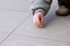 Gráfico del muchacho con tiza Fotografía de archivo libre de regalías