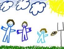 Gráfico del muchacho de la familia ilustración del vector