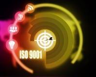 Gráfico del plan de concepto de la ISO 9001 stock de ilustración