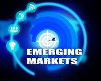 Gráfico del plan de concepto de los mercados emergentes Fotos de archivo libres de regalías