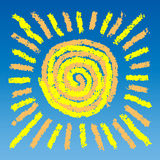 Gráfico del sol fotografía de archivo libre de regalías